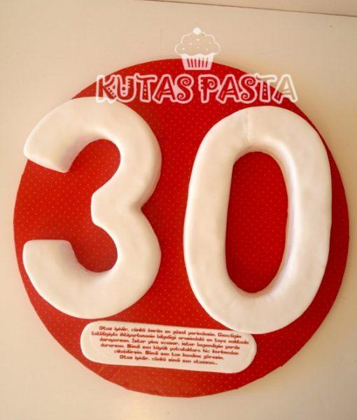 30 yaş pastası otuz