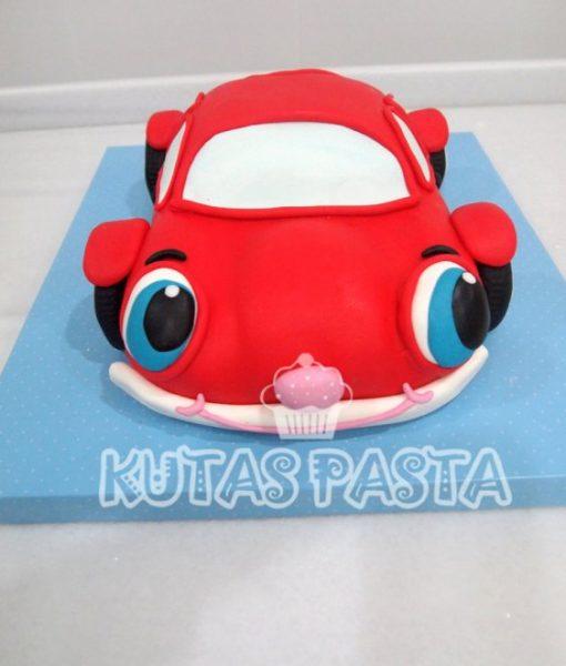 Kırmızı Oyuncak Araba Pasta