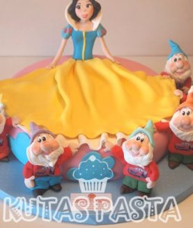 Pamuk Prenses yedi Cüceler Pasta