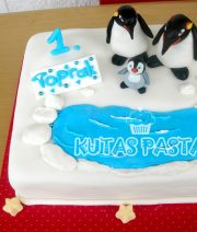 Penguen Pasta Happy Feet 1 Yaş pasta