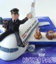 Pilot Uçaklı Pasta
