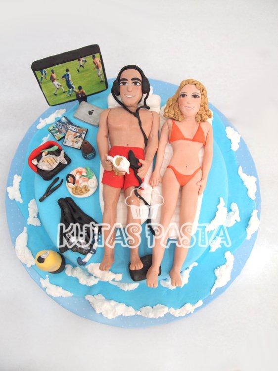 Tatil Deniz Pasta Sevgililer