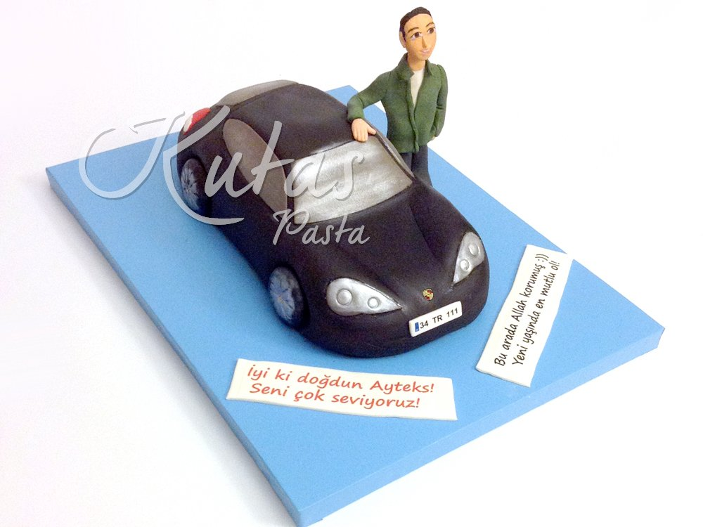 Arabalı Pasta Porsche