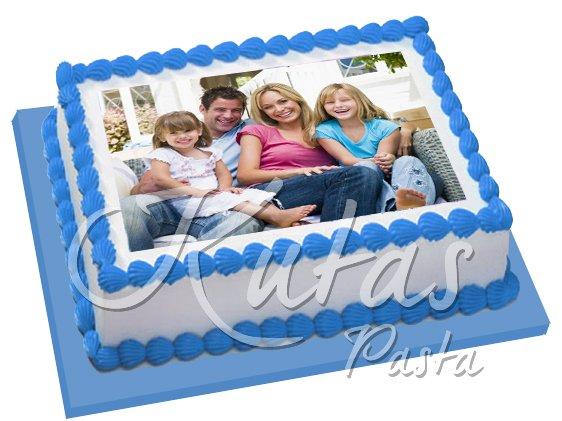 Aile Fotoğrafı Pasta