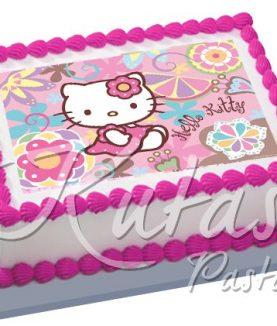Resimli Pasta Hello Kitty