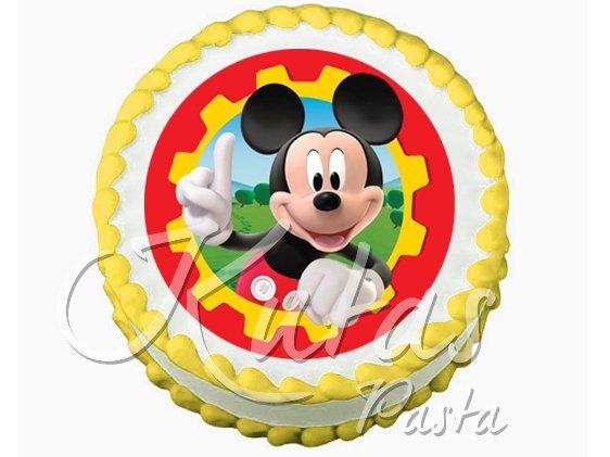 Resimli Pasta Mickey Mouse