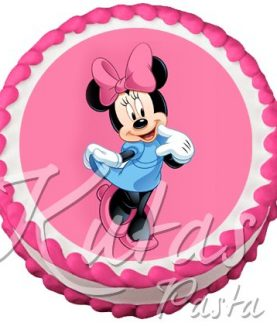 Resimli Pasta Minnie Mouse