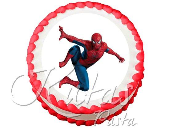 Resimli Pasta Örümcek Adam