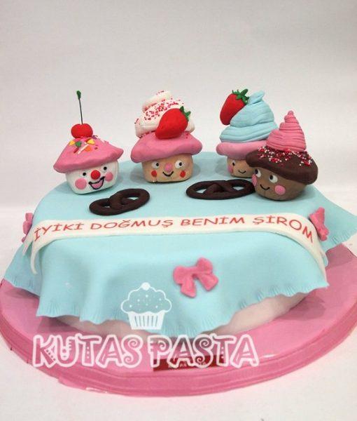Sevimli Cupcake Pasta