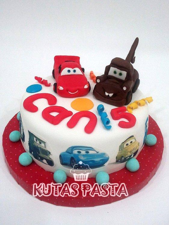 Şimşek Mcqueen Mater Doğum Günü Pasta