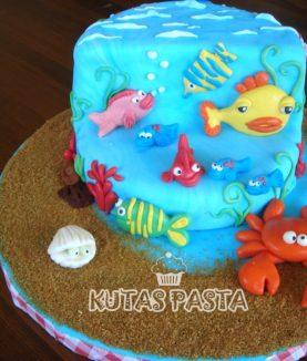Deniz Sualtı Pasta Balık Yengeç