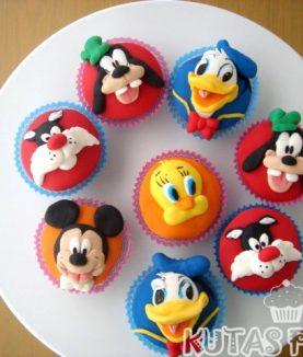Disney Temalı Cupcake Kupkek Minnie Mickey Goofy