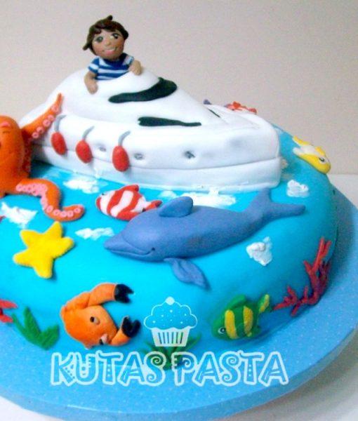 Denizci Tekne Pasta Yunus Ahtapot Balık