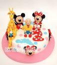 Caillou Mickey Minnie 2 Yaş Pastası
