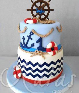 1 yaş Denizci Pastası