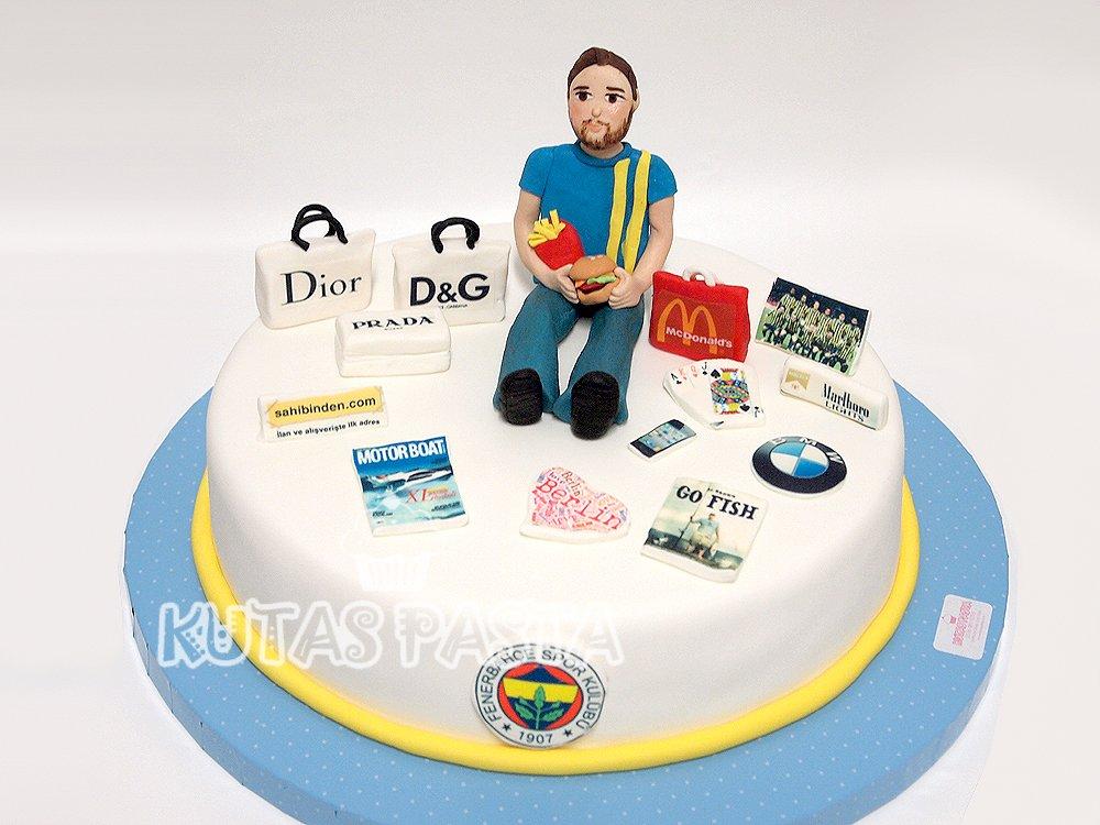Fenerbahçe Taraftarı Erkek Pasta