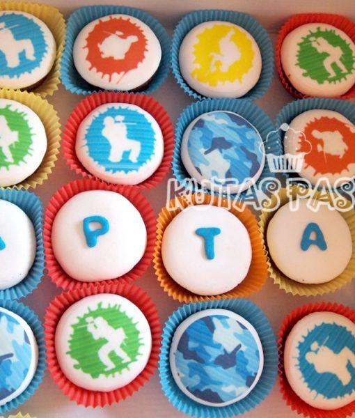 Paintball Cupcake