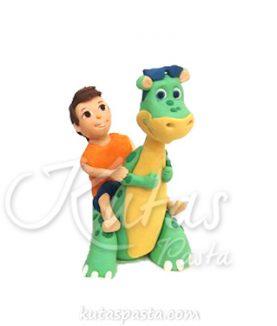 Pasta Figürü Dinozor ve Çocuk